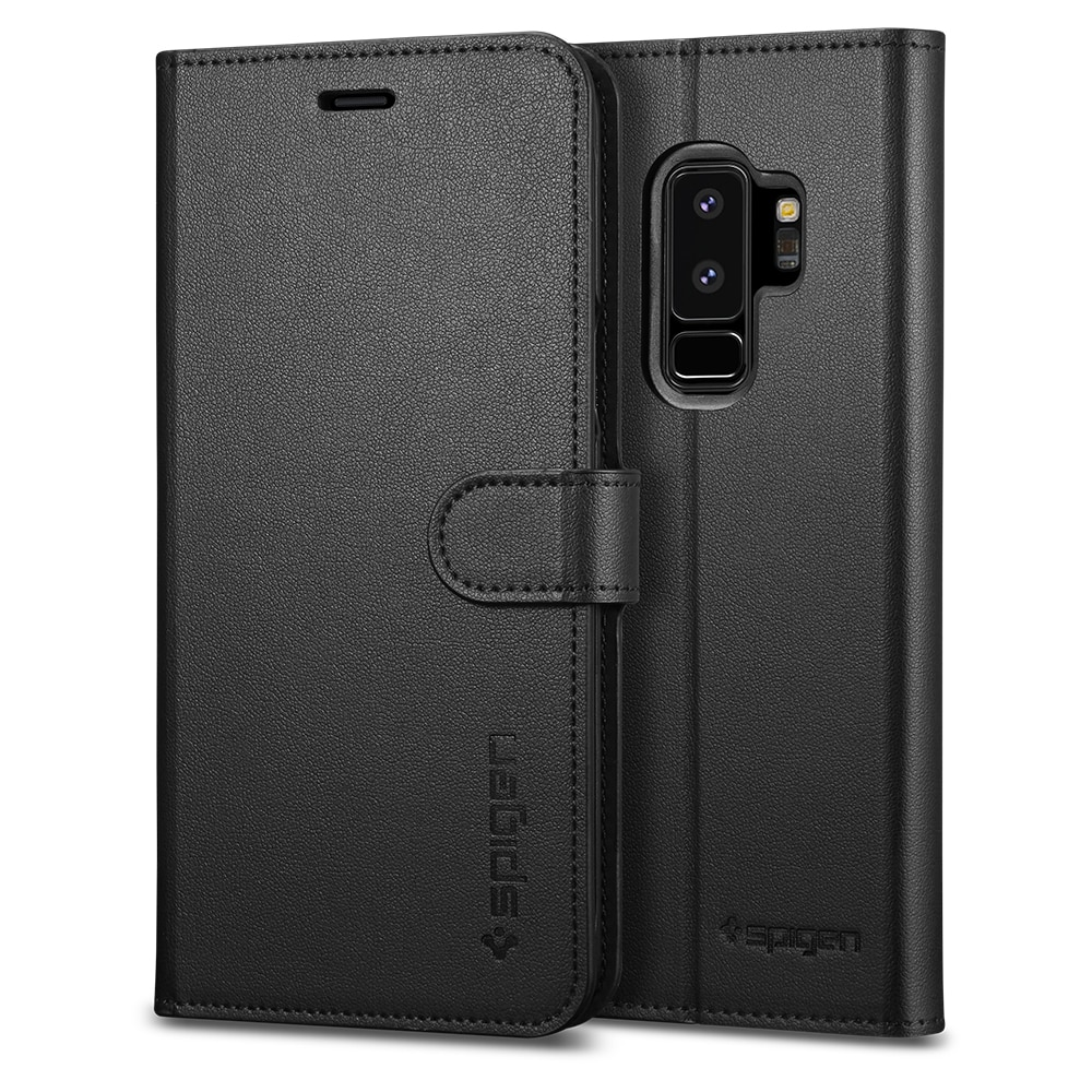 Samsung Galaxy S9 Plus Spigen Original Wallet S Flip Cover Case  - Black