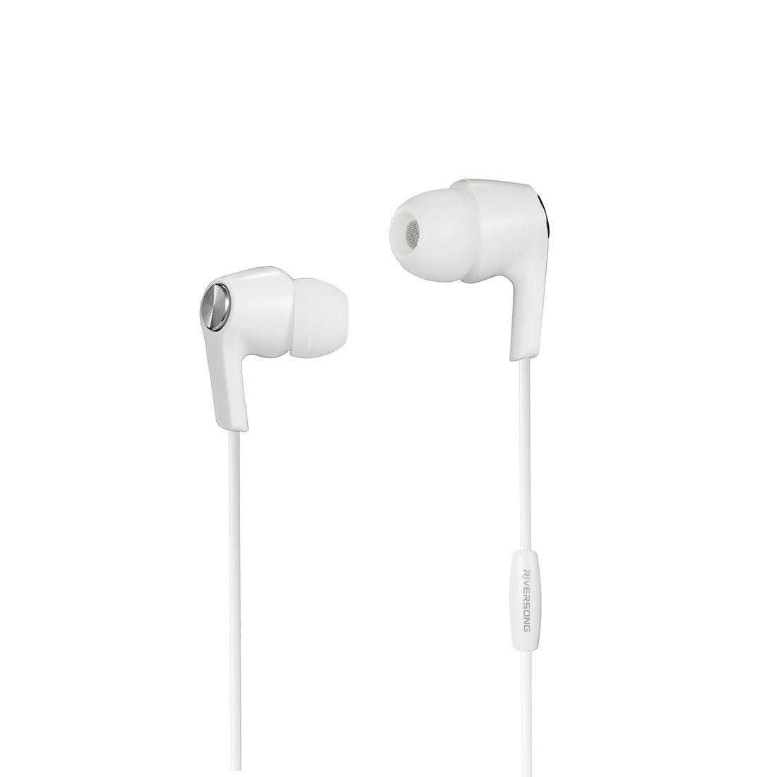 Riversong Deep Bass In-Ear Headphone with Mic (White)