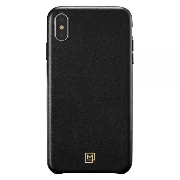 la manon calin iphone xs max black leather case