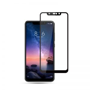 redmi note 6 pro glass 3d edge to edge tempered full glue