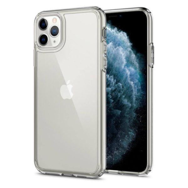 iphone 11 pro max crystal hybrid clear case spigen