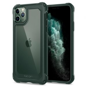 iphone 11 pro gauntlet spigen super tough case hunter green