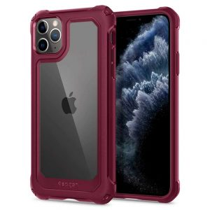 iphone 11 pro max gauntlet spigen case iron red