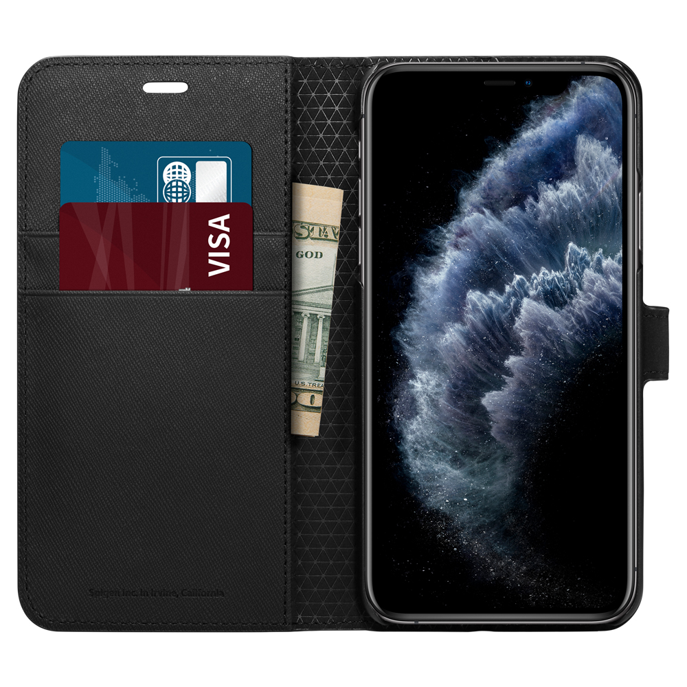 flip case iphone 11 pro max black color