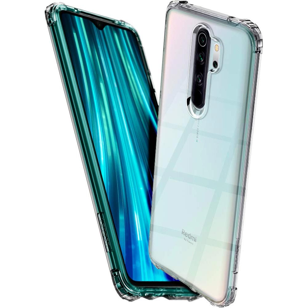 redmi note 8 pro spigen crystal shell transparent case in pakistan