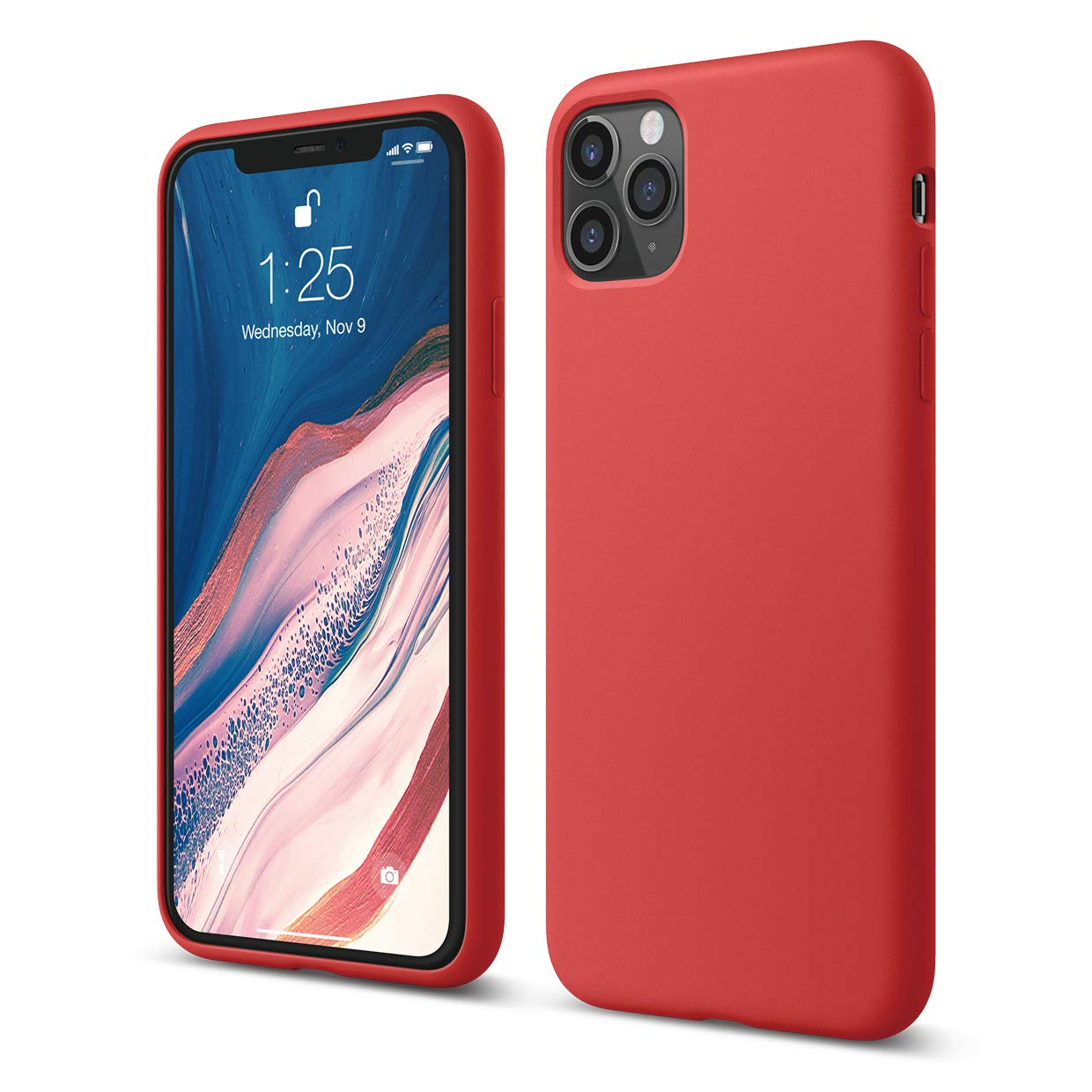 x fitted liquid silicon case iphone 11 pro max red