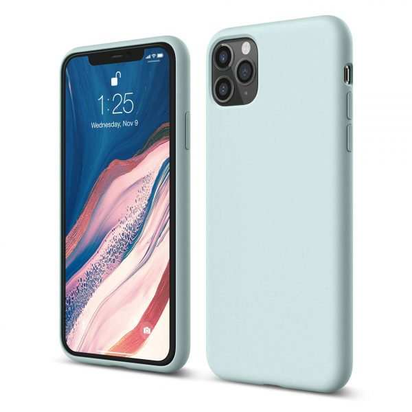 x fitted iphone 11 pro max pastel green silicon case