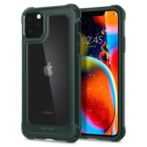 iphone 11 pro max gauntlet hunter green case by spigen