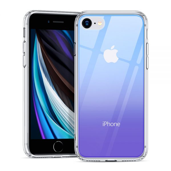 ice shield glass case by esr blue purple crystal case