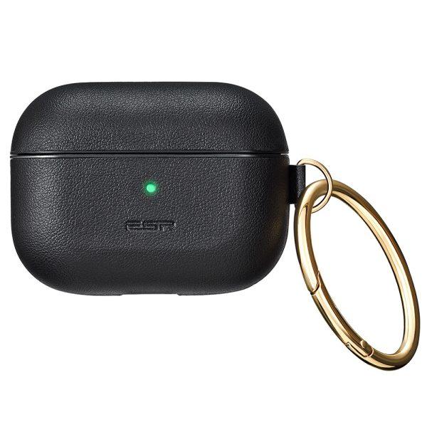 airpods pro metro light leather case esr black